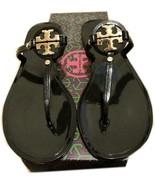 Tory Burch Blossom Black JELLY Thongs Sandals Flip Flop Slides 5 - $79.99