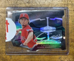 Darvish Direct Sign Card First No. Limited To Pieces 2013 Bowman Sterling - $327.70