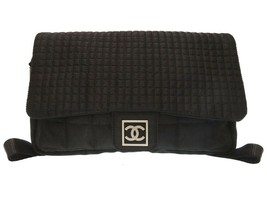 5fe7120713fa Chanel Sports Line chocolate bar nylon black backpack 10 bag 0171 100% Auth  - $2,235.77
