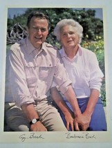 Signed Print Of George HW Bush Republican Presidential Gala Barbara - $9.85