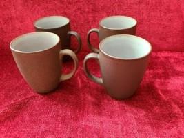 MIKASA SWISS COFFEE DARK BROWN   set of 4 mugs - $27.67