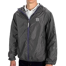 Sperry Top-sider Grey Gray Hooded Windbreaker Jacket (Small) - NEW NWT - $89.99