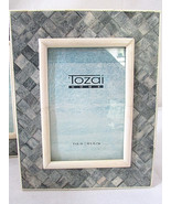 TOZAI HOME Gray 4x6 Piazza Photo Picture Frame Handcrafted Crosshatch Pa... - $37.36