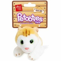 "NIP Russ Petooties Pets 4"" brown tabby apricot Cat Kitten Kitty new nip - $10.40"