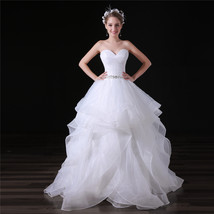 Sweet Organza Ruffle China Wedding Dress Floor Length Garden Bridal Gown... - $150.00