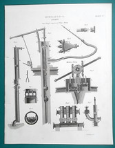 HYDRAULICS Types of Pumps Smeaton Jekyl Martin's - 1815 Antique Print by... - $14.40