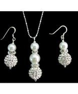 Ivory Bridesmaid Jewelry Set, Cream Pearl Necklace & Earrings Set - $14.00