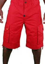 LRG Lifted Investigación Grupo Tiburón Landing Rojo Andar Pantalones Cortos Nwt