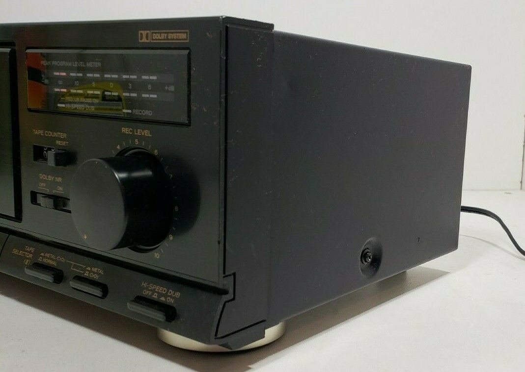 TEAC Stereo Double Cassette Deck W-410..Tested image 5