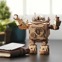 3D Puzzle DIY Robotime  Movement Assembled Wooden Jointed  Robot Model f... - $73.85