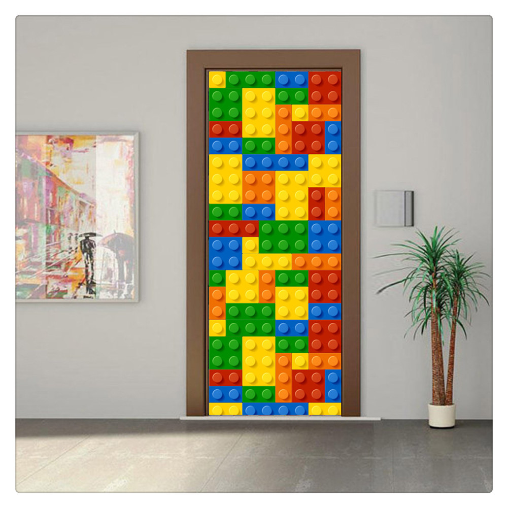 Primary image for Door Wall Sticker PVC Waterproof Bedroom Living Room Door Mural Wrap 32