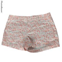 Gap Womens City Shorts Chinos Size 12 Orange White Floral Flat Front Poc... - $20.79