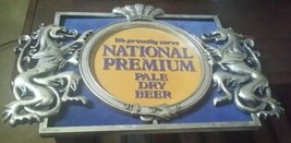 Vintage WE PROUDLY SERVE NATIONAL PREMIUM PALE DRY BEER Bar Sign Baltimo... - $89.09
