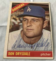 Don Drysdale 1966 Topps Autographed Baseball Card - $99.99