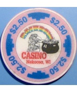 $2.50 Casino Chip. Rainbow, Nekoosa, WI. V39. - $5.50