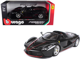 Ferrari LaFerrari F70 Aperta Black 1/24 Diecast Model Car by Bburago - $35.69