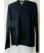 Banana Republic Mens Med. 100% Wool Sweater Extra Fine Merino Blue Long ... - $19.79