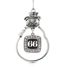 Inspired Silver Number 66 Classic Snowman Holiday Decoration Christmas Tree Orna - $14.69