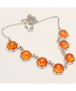 Natural Poland Honey Yolk Baltic Amber Necklace 925 Sterling Silver Fine... - $82.95