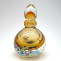 Beautiful Large Murano Sommerso Glass Perfume Bottle Yellow/Gold Fish - $79.20