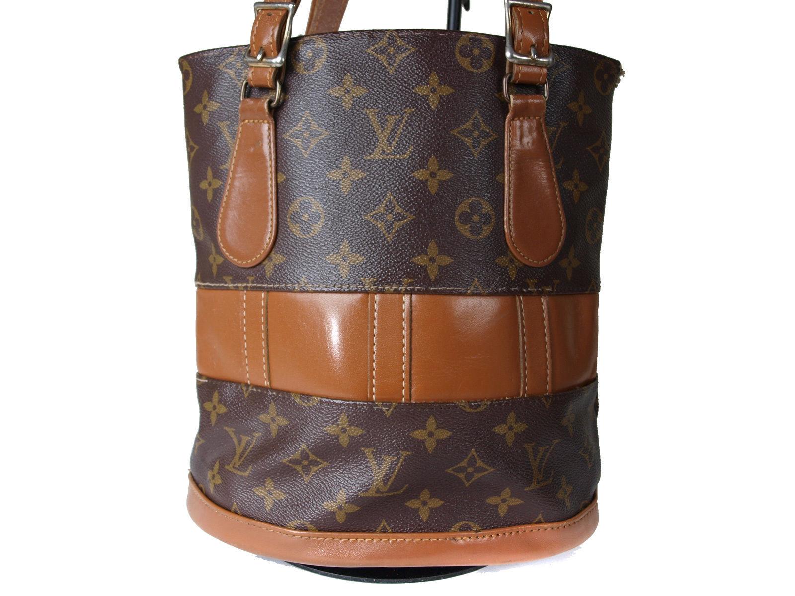 c76207560ac4 ... Authentic LOUIS VUITTON USA BUCKET Monogram Tote Bag Shoulder Bag Purse  LS11553L ...