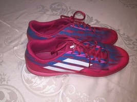 Adidas Indoor Soccer Shoes Free Football Speedtrick Pink Blue White Size 13 - $41.71