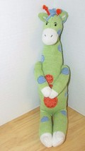 Seasons of Cannon Falls green sweater knit plush giraffe room decor sock... - $9.99