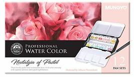 Mungyo Professional Solid Water Colors 12 Pan Colors Pastel Tone