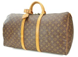 Authentic LOUIS VUITTON Keepall 55 Monogram Canvas Duffel Bag #35164 - $399.00