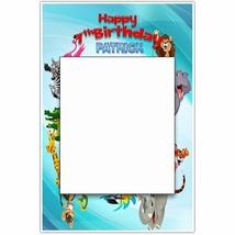 Jungle Animals Birthday Party Selfie Frame Social Media Frame Photo Booth Pro... - $16.34+