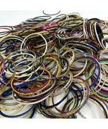 Large Lot of Thin Metal Bangle Stack Bracelets Retro VSCO Boho - $19.79