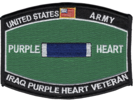 "4.5"" Army Mos Iraq Veteran Purple Heart Embroidered Patch - $23.74"