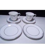 Royal Doulton Andante 6 Piece Snack Set ~~  2 cups & saucer & 2 B&B plts - $7.99