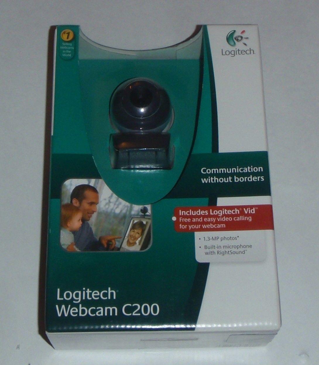 1c2c2cc7fb9 New NWB Logitech C200 1.3 - MP Photos Webcam and 20 similar items. S l1600