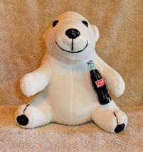 "Coca Cola Polar Bear 1998 Plush Stuffed Animal 7.75""  CUTE - $7.49"