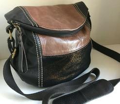 The Sak DEENA Teak Brown/Multi Metallic Cross-Body Stash Bag Adjustable ... - $26.87