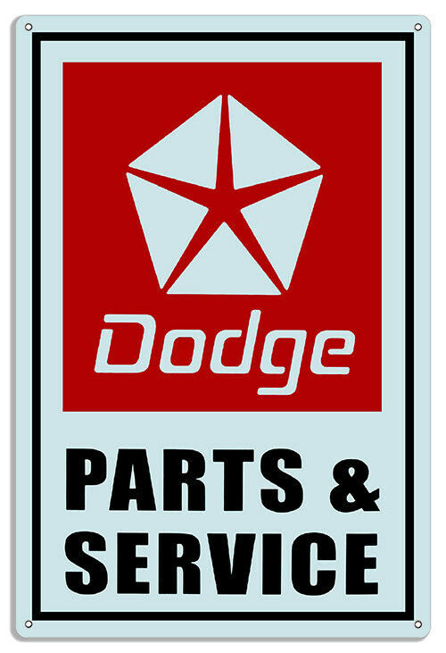 "Primary image for Dodge Parts Reproduction Gas Station Metal Sign 16"" x 24"""