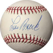 Lou Brock signed Official Major League Baseball- Steiner/MLB Authenticat... - $68.95