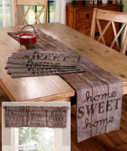 Table Runner or Placemats for Dining Table Rustic Country Wood Panel Loo... - $14.84+