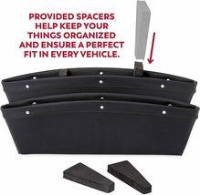 2 in 1 Car Seat Gap Organizer | Universal Fit | Storage Pockets Adjust 2 Pack image 3