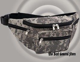 Digital Camo Water Repellent Fanny Pack Waist Hip Bag Hiking Walking Sho... - $12.99