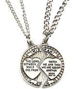 MIZPAH NECKLACE SET SWEETHEART GIFT LORD WATCH BETWEEN ME AND THEE MIZPA... - $42.12