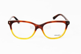 New Prada Eyeglasses VPR 14R TKU 101 Blonde Havana Acetate 54 16 140 Authentic - $84.55