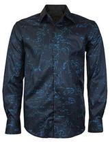 LW Men's Western Cowboy Long Sleeve Modern Rodeo Dress Shirt