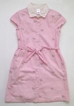 Gymboree Dress Striped Cotton Poplin ~ Girls Sz 9 ~ Cute Dog Print!!! - $19.34