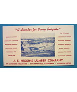 INK BLOTTER 1950 - J.E. Higgins Lumber Company San Francisco California - $4.49