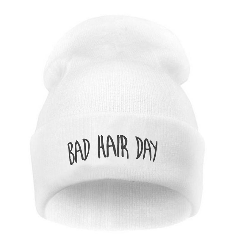 Primary image for Fashion Unisex Sport Winter Hat Bad Hair Day Letter Beanie Cap Men Hat Beanie Kn