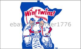 Minnesota Twins 3'x5' White Flag Sano Mauer Hrbek Puckett - USA seller s... - $25.00