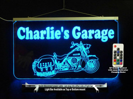 Personalized Motorcycle Man Cave Sign- Garage Sign, Bar sign, LED Neon - $96.03+