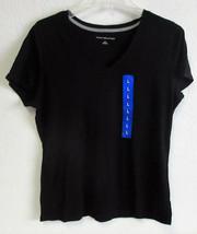 Women's Tommy Hilfiger V-Neck Short Sleeve T-Shirt- Black Large - $14.82